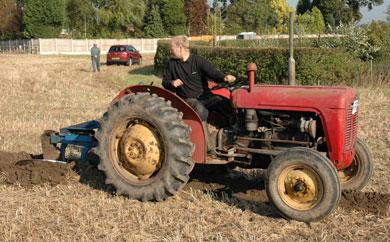 Trevor Riley, from Knutsford on his Massey Ferguson 35.