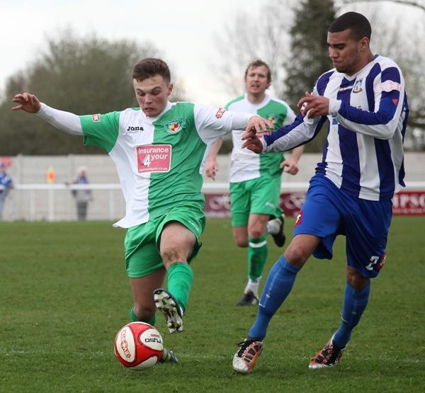 Sean Cooke's brilliant strike sealed a point for Nantwich.  Picture by SimonJNewburyphotography.co.uk