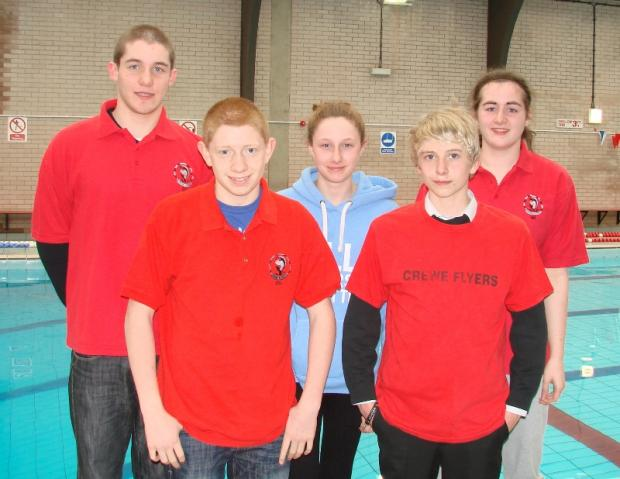 Aaron Glover, Elliot Bloor, Eleanor Bloor, Grace Farr and Stuart Eastwood competed at the English Schools North West trials