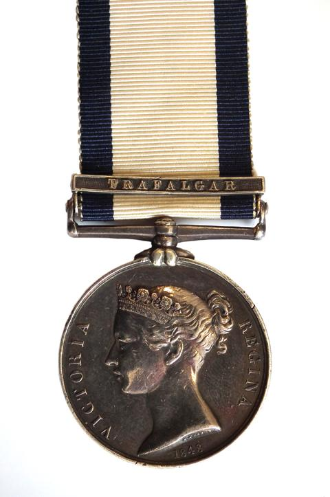 Nelson aide's Battle of Trafalgar medal in Nantwich Auction