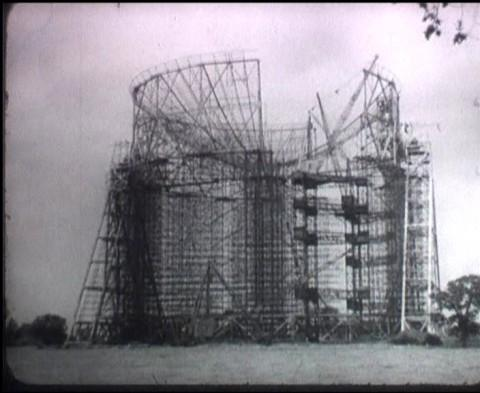 Jodrell Bank under construction