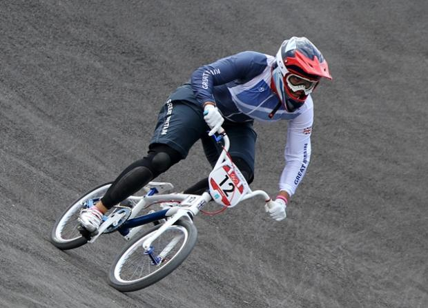 Shanaze Reade on the Olympic course. Picture by Peter Tarry/NOPP