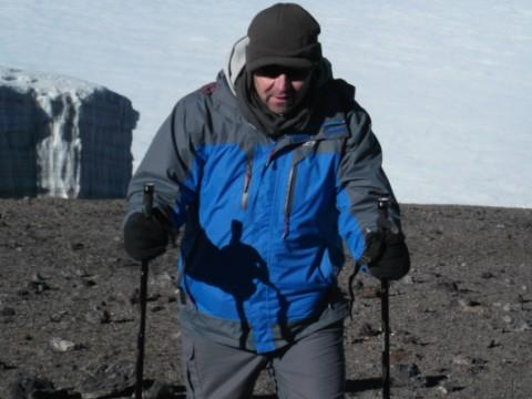 John Brownrigg during his trek up Kilimanjaro