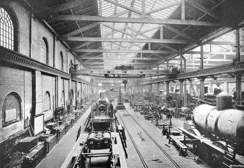 Crewe Works at the turn of the last century