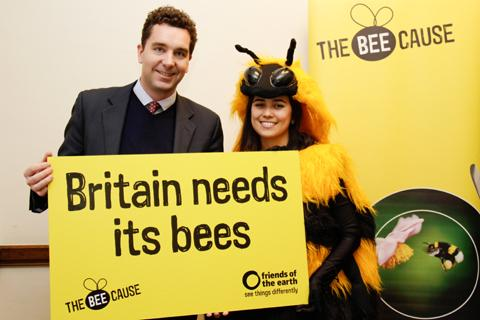 MP creates a buzz about bee decline
