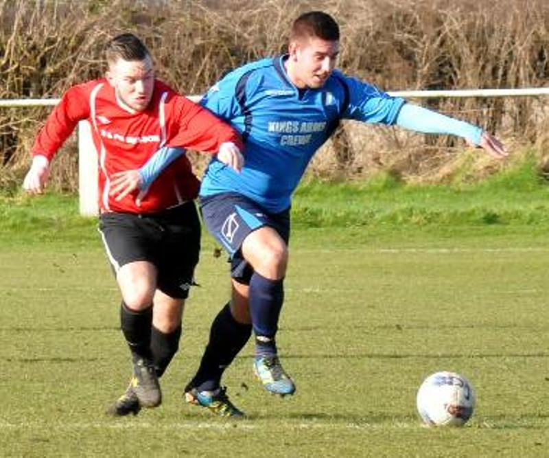 Crewe FC attempt to get away from Knutsford in Saturday's Cheshire League clash	s130811