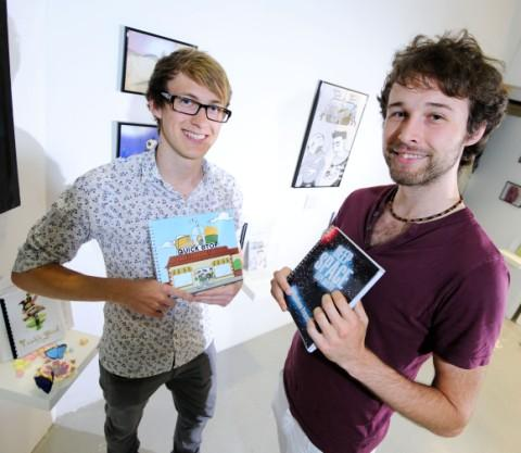 Robert Beard, left, alongside fellow animator Matthew French.