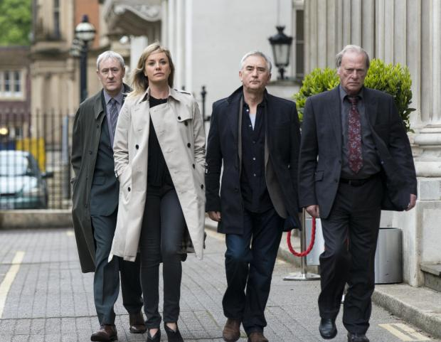 EVEN NEWER TRICKS: From left, Danny Griffin (Nicholas Lyndhurst), DCI Sacha Miller (Tamzin Outhwaite), Steve McAndrew (Denis Lawson) and Gerry Standing (Dennis Waterman) are back on the