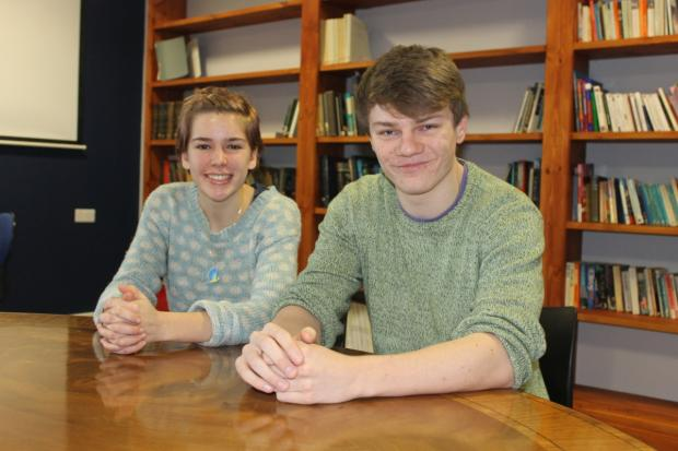 Louise Baddeley and Connor Read, who both benefited from their Nuffield experience