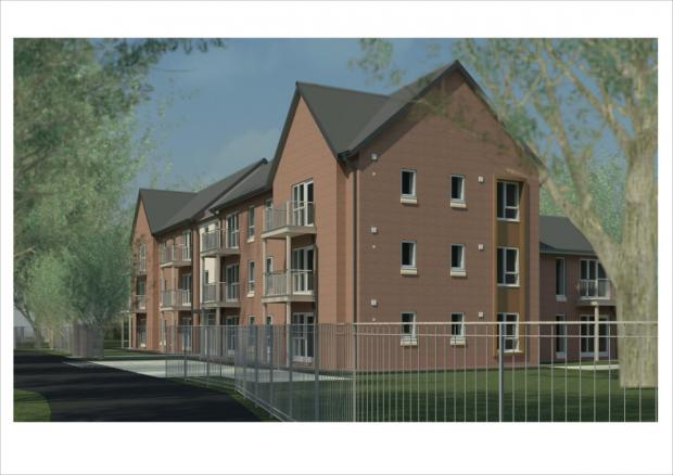 An artists' impression of the new flats