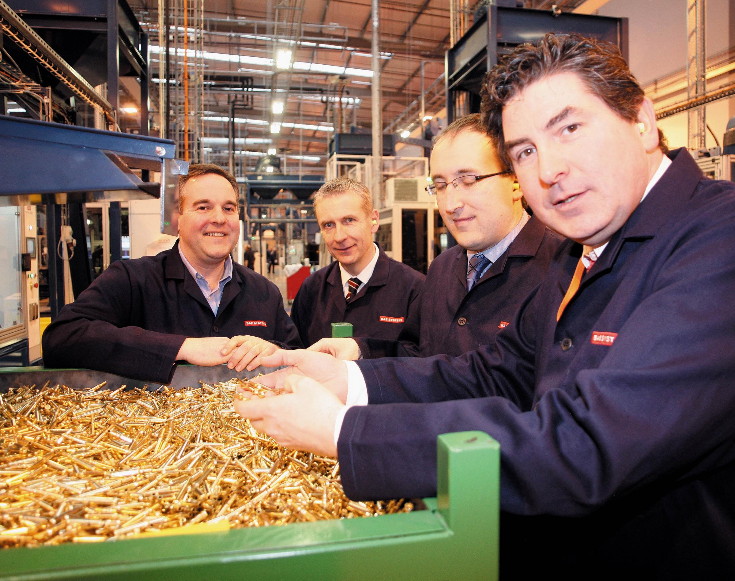 Nigel MacVean, Radway Green GM, Ian Anderton, Munitions MD, Lloyd Brown and Rob F