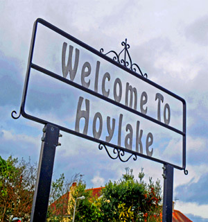 Crewe Guardian: Hoylake sign