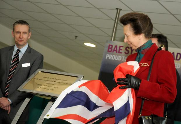 Princess Anne opens £83 million Crewe BAE facility