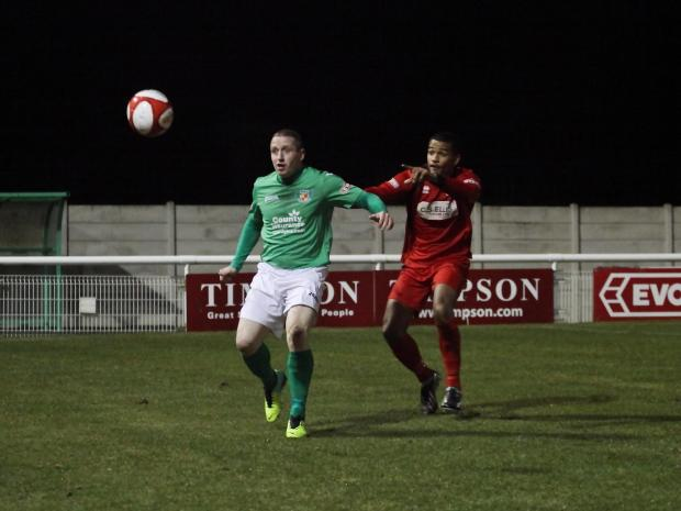 Crewe Guardian: Action from the Dabbers' defeat of Stamford. Pictures courtesy of Simon J Newbury Photography
