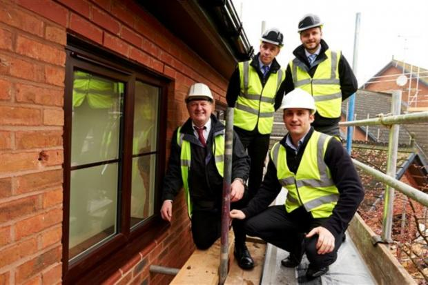 Crewe Guardian: Muir Group employees at the Baronia Court development