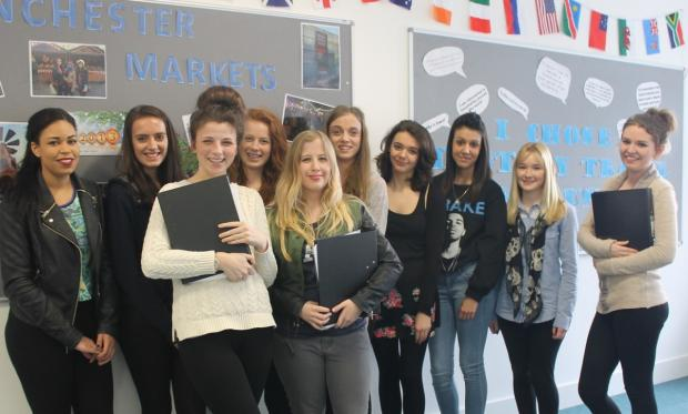 Travel and Tourism students who took part in the business project