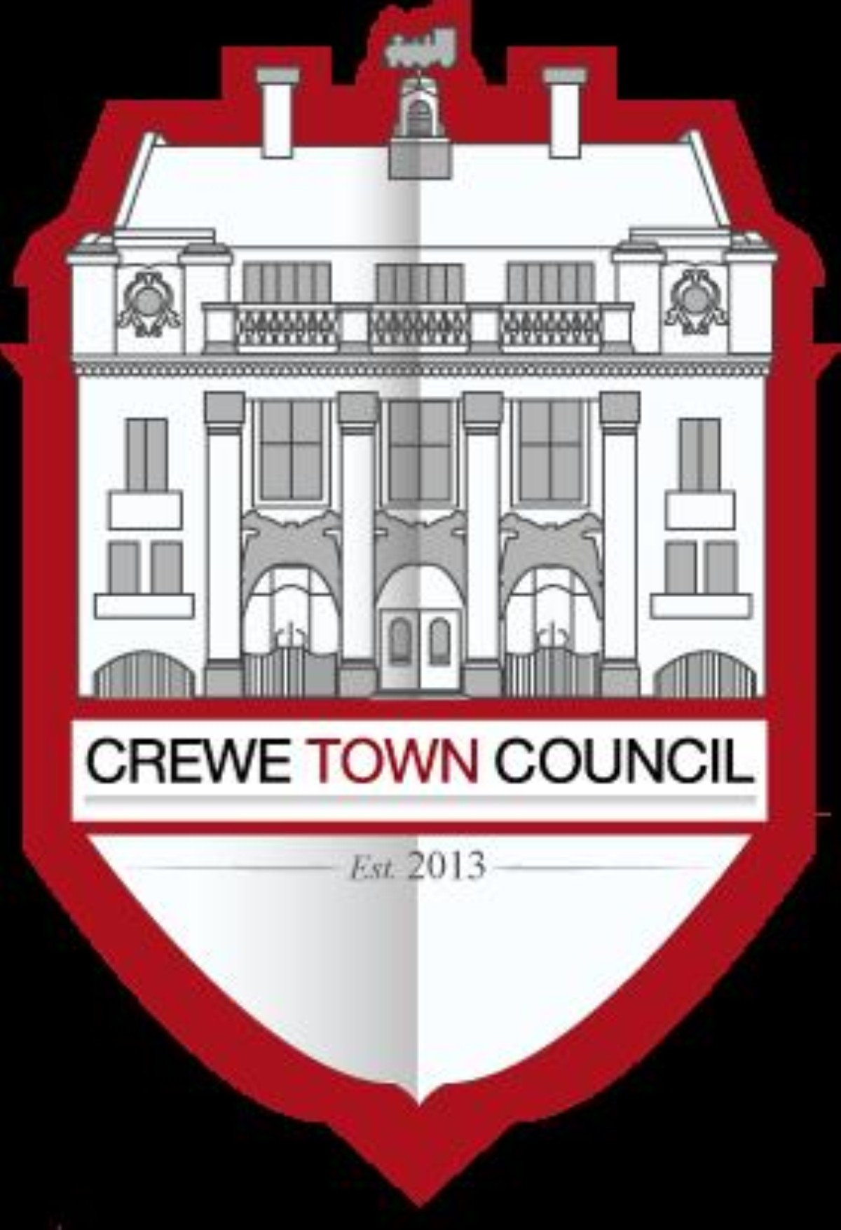 Crewe Town Council's logo foresaw a move into the Municipal Buildings, but Cheshire East