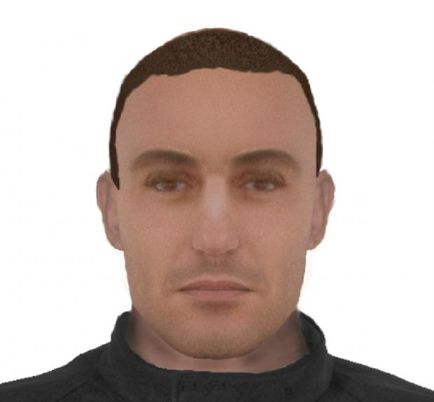 Crewe police have issued this e-fit image of the suspect.