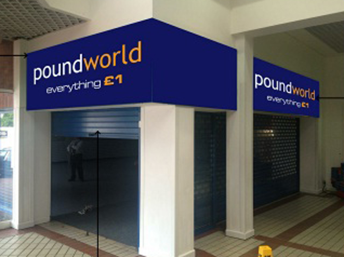 What the former JJB unit will look like once it has been transformed into a Poundland.