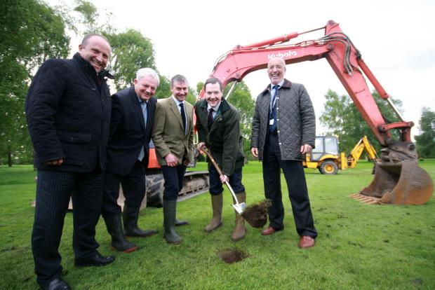 Chancellor hails Nantwich college after cutting sod on new £8.5m centre