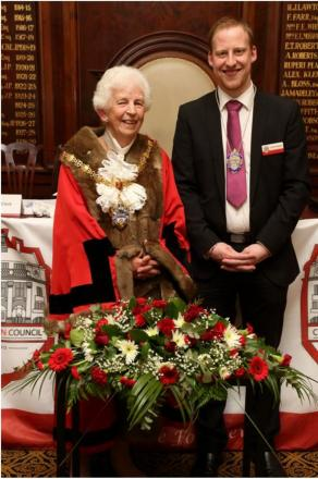 Clr Pam Minshall and her grandson, clr Benn Minshall, will be the new mayor and deputy mayor of Crewe