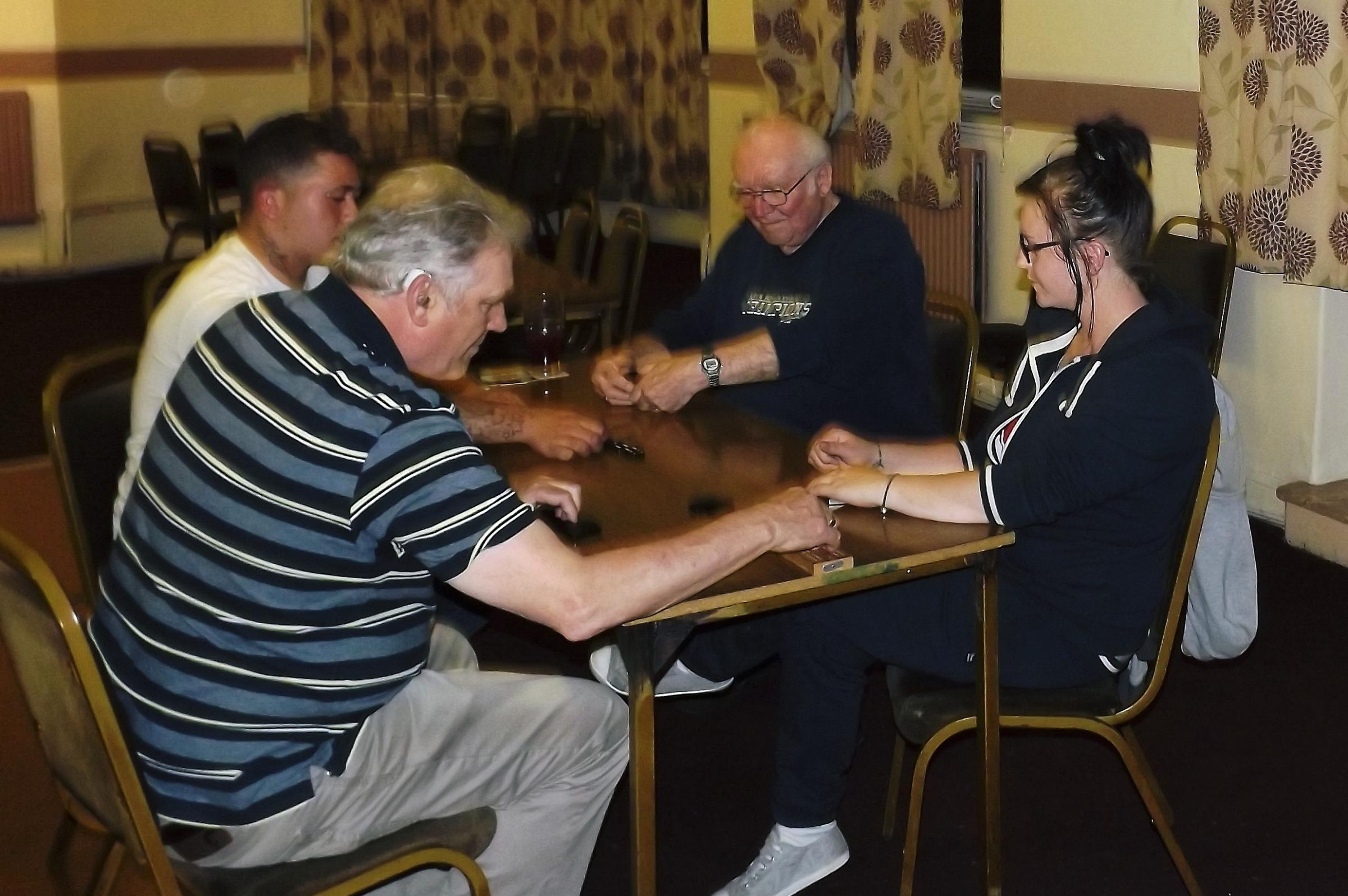 Youngsters fall to veteran dominoes pair
