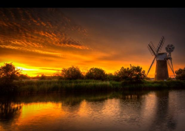 Mill at Sunset by Wendy Williams
