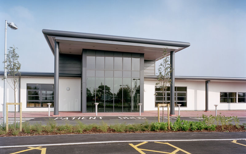 The exterior of the treatment centre at Leighton Hospital.