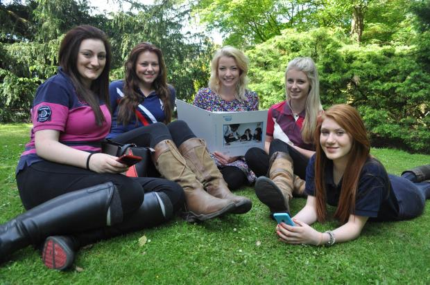 From left Emma Penn, Emily Bancroft, April Macleod and Eve Baker with Carys Jones.