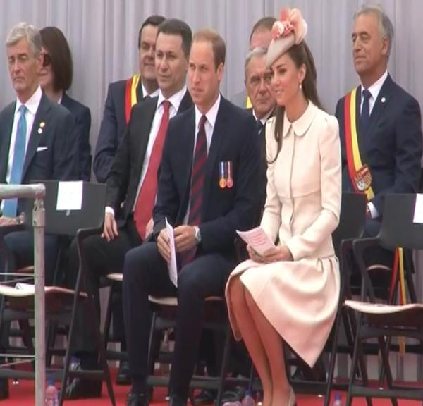 Prince William was joined by wife Kate at the Allies' Memorial at Cointe.