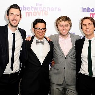 Blake Harrison, Simon Bird, James Buckley and Joe Thomas from the Inbetweeners
