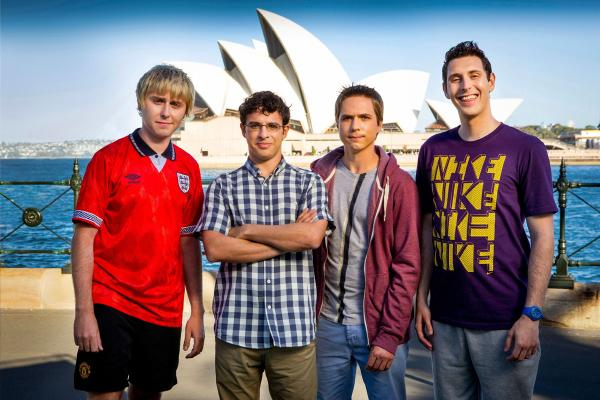 The Inbetweeners boys are down (under) and out