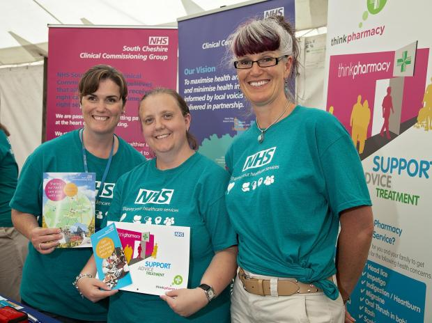Joanne Vitta, Emma Leigh and Jo Rourke represent South Cheshire CCG at the Nantwich Show.