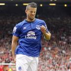 Crewe Guardian: Everton's Kevin Mirallas pulled up injured during the Merseyside derby