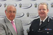 Cheshire's Police & Crime Commissioner John Dwyer and Chief Constable Simon Byrne.