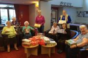 Elderly residents at Beechmere Extra Care development in Crewe filled shoeboxes with gifts for children