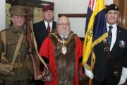 Cllr Dennis Straine-Francis joined by the Royal British Legion Crewe branch