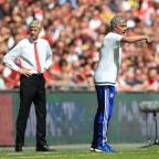 Crewe Guardian: Arsene Wenger, left, suggested a lack of respect was behind his decision to snub Jose Mourinho