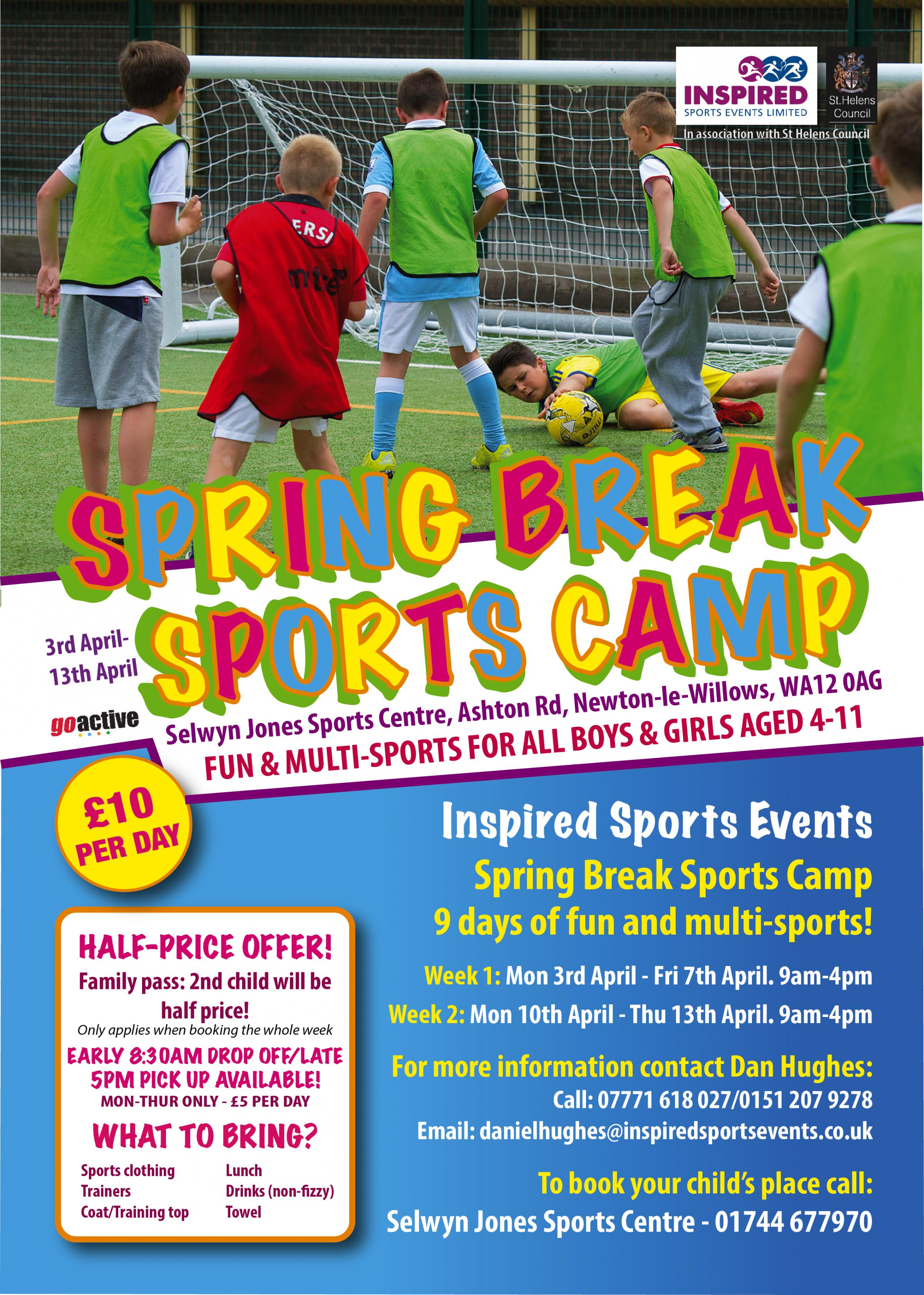 Inspired Sports Events' Spring Break Sports Camp!