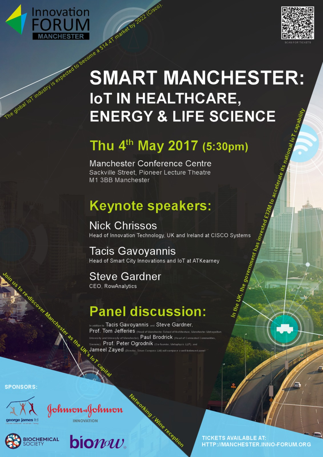 Smart Manchester: IoT in Healthcare, Energy & Life Sciences