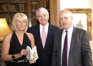 Former prime minister John Major with Wendy and Colin Parry