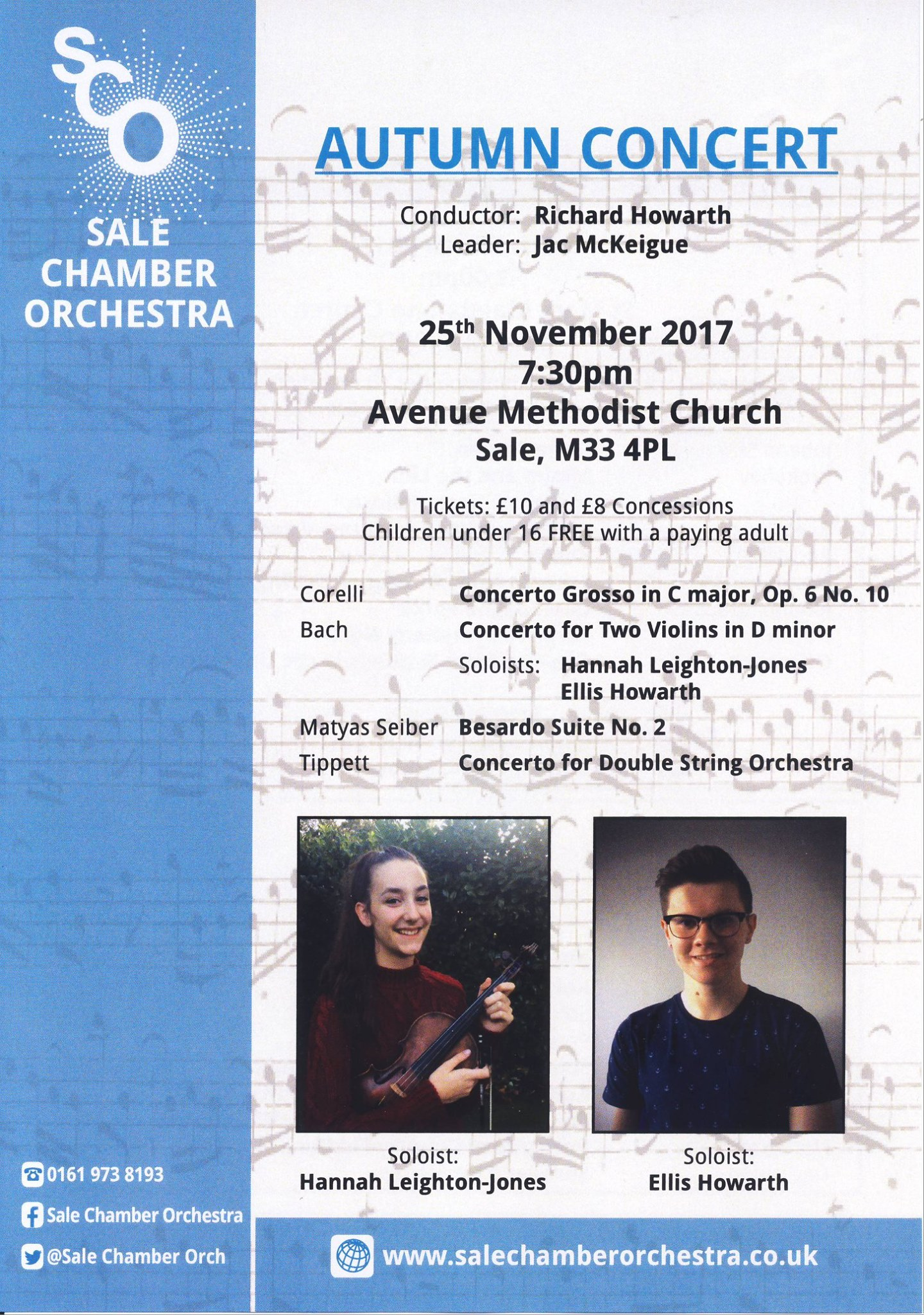 Sale Chamber Orchestra Autumn Concert