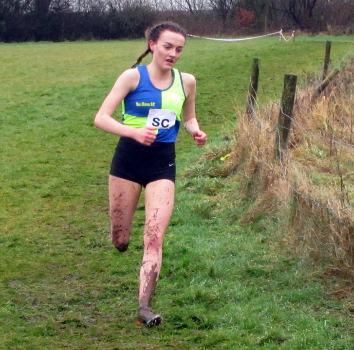 Holly Smith on her way to second spot in the inter girls' race at the Cheshire Schools' Cross Country Championships. Picture: Robert Brown/Vale Royal AC
