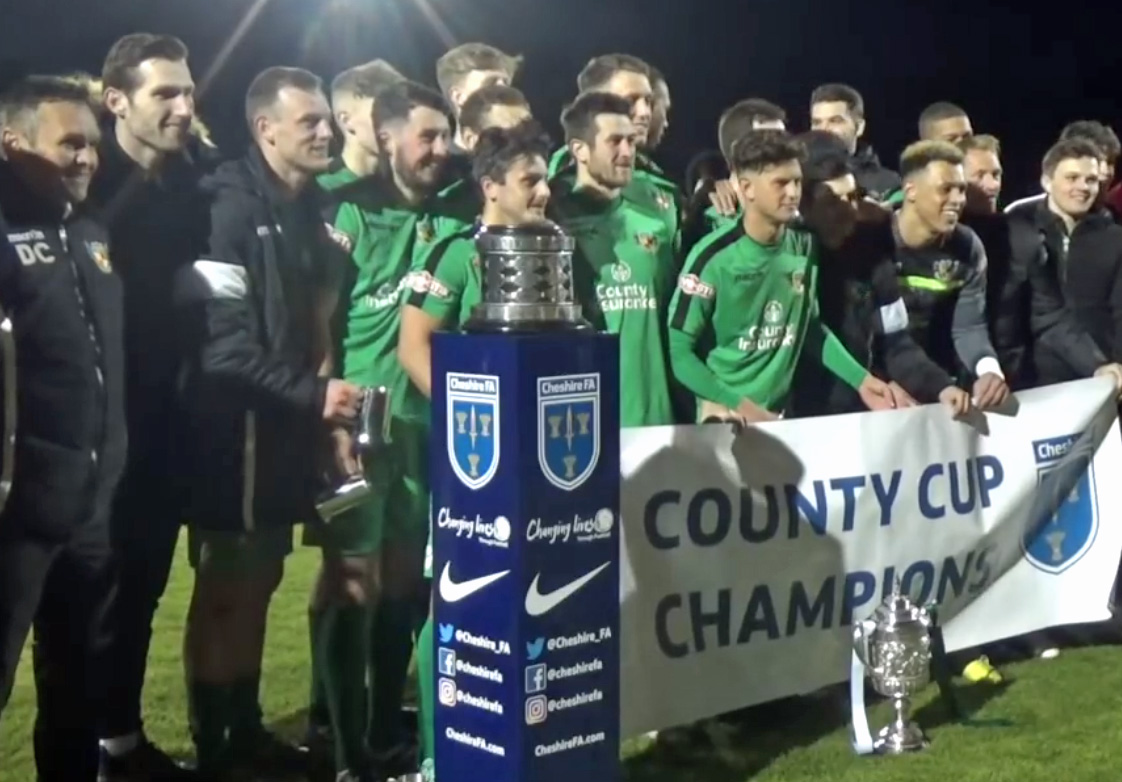Nantwich Town with the Cheshire Senior Cup
