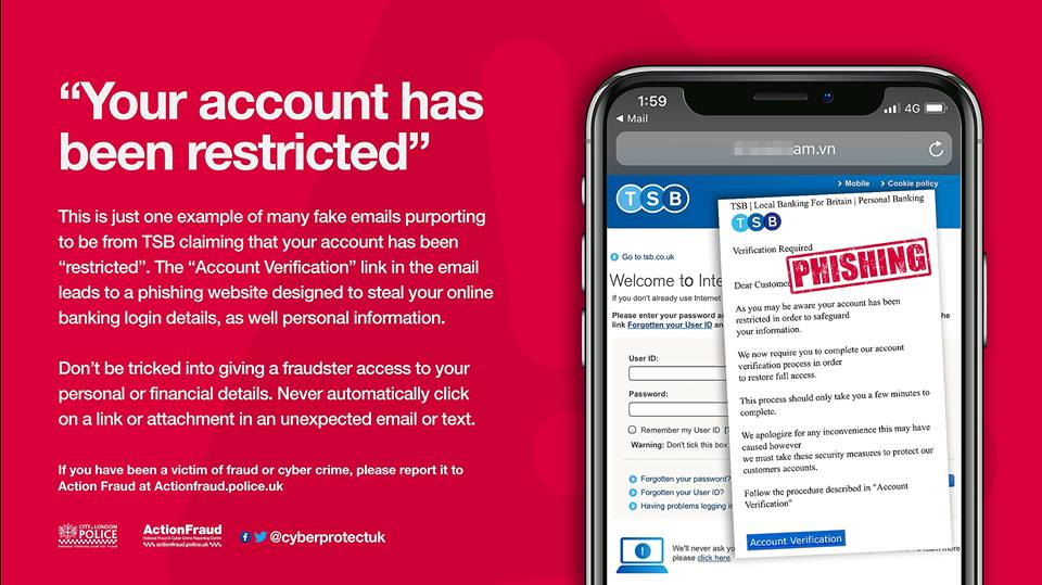 WARNING: Sharp rise in fraudsters sending out fake TSB texts and emails