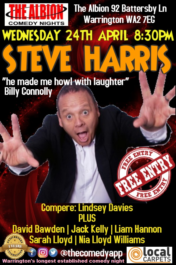 Comedy night with Steve Harris